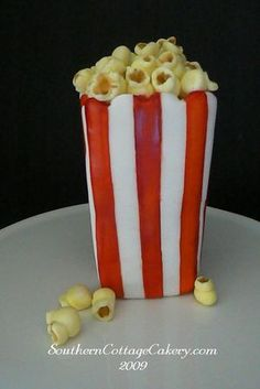 fondantpopcorn, fondant popcorn, cottag sweet, cake decor, popcorn kernel, southern cottag