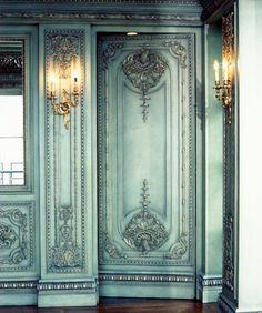 Gorgeous light blue/green door.
