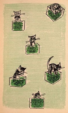 Cat in the Box by Dana Michel, illustrated by Rosalind Welcher (1963).