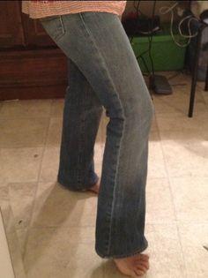 How to hem jeans but keep the original hem...brilliant!