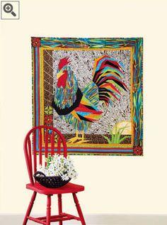 Chicken!  Quilt by Lea Hardee