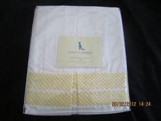 Ebay - NIP Pottery Barn Kids crib bedskirt dust ruffle white/yellow Gingham rid rac NEW