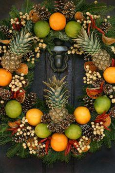 . holiday, christmas wreaths, christma wreath, season, pineappl, christma decor, christma time, fall wreaths, christma wonderland