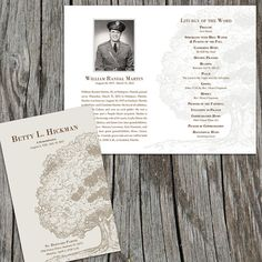 Oak Tree Memorial / Funeral Program /  Bulletin by FoxDigitalDesign, $55.00