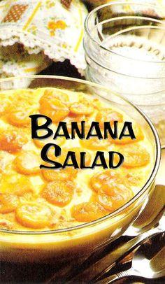 South African Recipes | BANANA SALAD