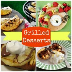 10 Delicious Grilled Desserts | Spoonful.com #myhttender #grilling #biggreenegg