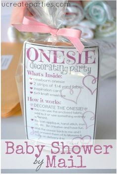Baby Shower by Mail on ucreateparties.com ...such a great idea!