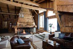 Chalet de montagne on pinterest chalets ski chalet and - Interieur chalet bois montagne ...