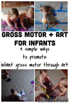 grossmotor, gross motor infants, gross motor for infants, travel infant, art for infants