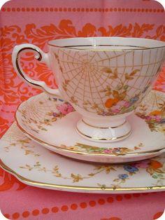spiderweb teacup