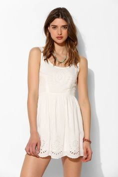 Pins And Needles Scallop-Hem Fit + Flare Dress #urbanoutfitters