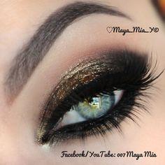 Close up.  Bronze makeup