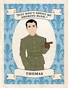 Downton Abbey Trading Cards designed by Chad Thomas for Vanity Fair. Brilliant!