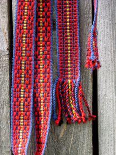 Hand woven wol Belt wool strap bohemian woven by Gunaspaleteplus, €38.00