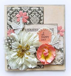 Oh Happy Day- Card - Scrapbook.com- embellish your card with various florals to spice it up!