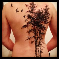 birch tree tattoo  MEANING: rebirth, beginnings, cleansing, and renewal, CELTIC MEANING: Beginning, Renewal, Youth