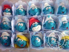 Smurfs cake balls -- Cute!