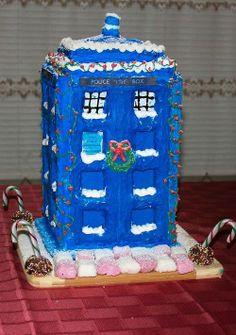 TARDIS Gingerbread..................