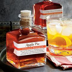 food gifts, drink, cocktail, infus bourbon, apples, recip, appl pie, christmas gifts, apple pies
