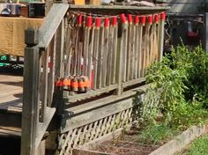 Shotgun shell garland for hunting theme birthday party, using toilet paper rolls, duct tape and string.