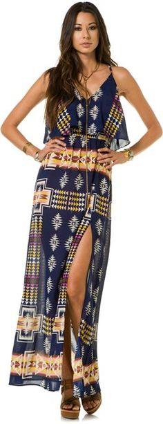 EIGHT SIXTY NAVAJO BLANKET MAXI DRESS http://www.swell.com/MAXI-Dresses