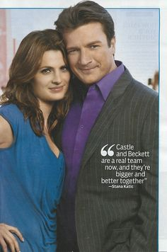 """""""Castle and Beckett are a real team now, and they're bigger and better together."""" ~Stana Katic"""