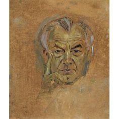 Study—Portrait of Emery Reves, Graham Sutherland, 1965-1966, Dallas Museum of Art