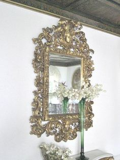 Incredible Massive Antique 8 ft x 5 ft Mirror Carved gold leaf Victorian | eBay