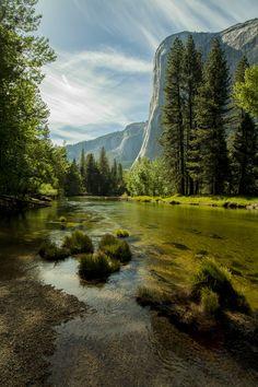 The Merced River in Yosemite - California - USA