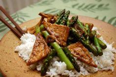 Dry-fried tofu... with asparagus