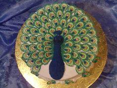 cooki, peacock cake