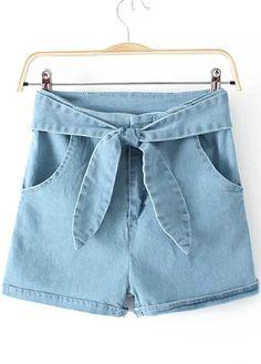 High Waist Denim Shorts//