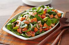 Sweet+Potato,+Apple+and+Spinach+Salad+recipe