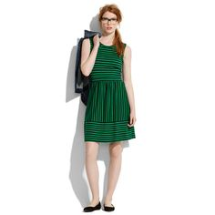 Striped Duet Dress stripe duet, dream dress, fashion, cloth, style, green, dresses, madewel stripe, duet dress