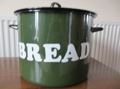 vintag bread, bread box, green bread, bread bin