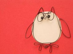 wire owl card