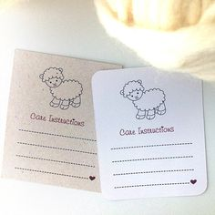 Printable Cards for knitters and crochetters. PDF file. A4.