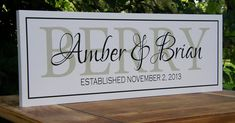 Custom Last Name Signs Personalized Family Last Name Wood Sign Unqiue Wedding Gifts Bridal Shower Personalized Anniversary Gifts Christmas on Etsy, $32.95