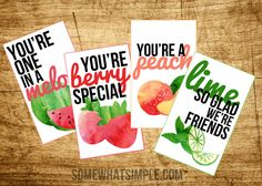 Fruit friendship tags