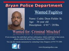 Wanted Cedric Fielder Sr. posted Oct 2014