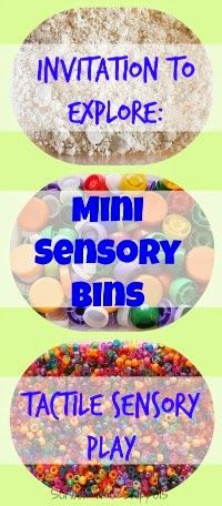School Time Snippets: Mini Sensory Bin Free Play {Tactile Sensory Play} Pinned by SOS Inc. Resources. Follow all our boards at pinterest.com/sostherapy/ for therapy resources.