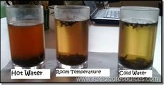 Use tea leaves to help students visualize how molecules move when heated.