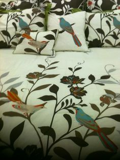 Embroidered bed set. // Discover if your home decor personality is Boho. www.homegoods.com/stylescope