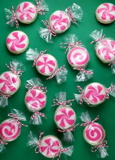 Peppermint Sugar Candy Cookies