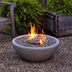 Real Flame Hampton Firebowl - Grey #hayneedlehome