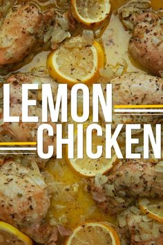 Lemon Chicken // added a little Dijon & honey (or maple syrup)