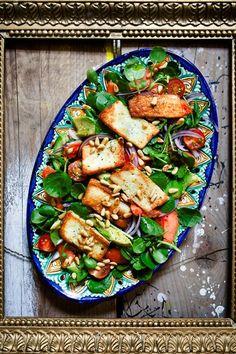 glorious food, hemsley, halloumi salad, salad recipes, drink