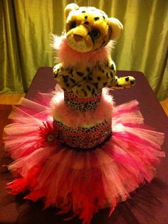 Pink Cheetah Tutu Diaper Cake By DivaDiapers On Etsy