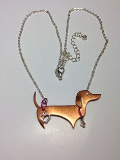 Vintage Copper the Doxie Dachshund by DoxiesJewelryandMore on Etsy, $19.99