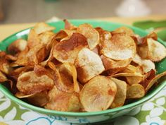 Try this recipe for Homemade Potato Chips from Kimberlys Simply Southern featured on GAC!